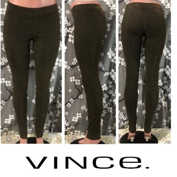 Vince Denim - NWOT VINCE Stretch Lamb Suede Leather Leggings